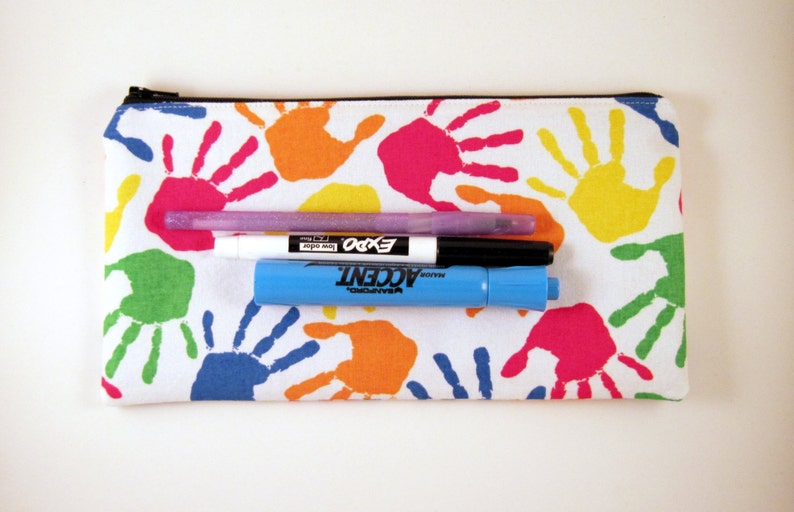Colorful Hands Zipper Pouch Pencil Pouch Make Up Bag Gadget Bag