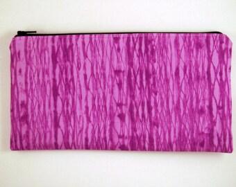 Purple Zipper Pouch, Make Up Bag, Pencil Case, Gadget Bag, Purple Pencil Pouch, Purple Clutch, Purple Purse