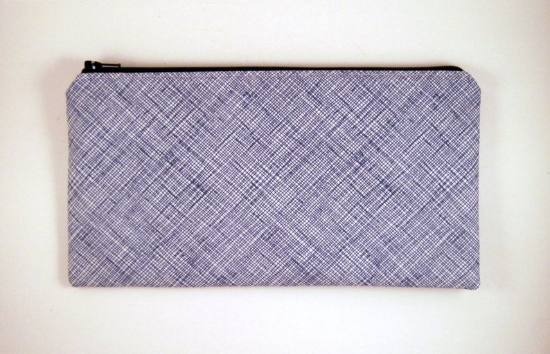 Blue Make Up Pouch Gadget Bag Pencil Case Pencil Pouch image 0