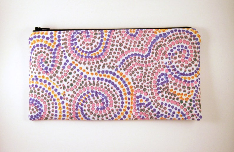 Colorful Pencil Case Swirly Dot Zipper Pouch Make Up Bag image 0