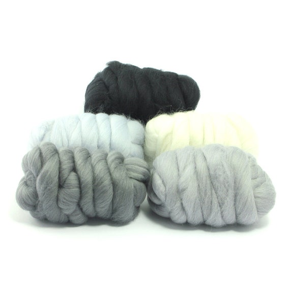 100g DYED MERINO WOOL TOP ASH LIGHT GREY DREADS 64/'s SPINNING FELTING ROVING
