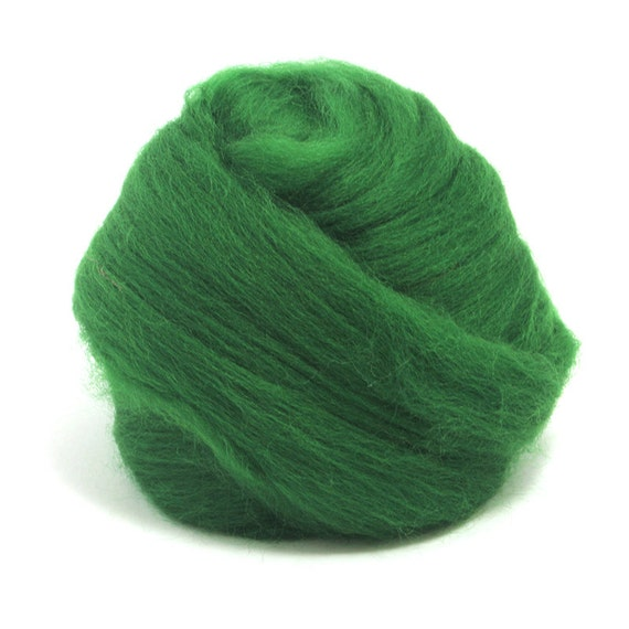 Felt Making and Spinning Green 100g Merino Wool Tops 64/'s Dyed Fibres