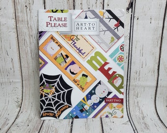 Table Please Part Two | Sewing Book | Art To heart | Halloween Fall Thanksgiving Christmas Table Decorations