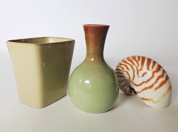 Two Small Mid Century Modern Vases By S Ballard Studio Art Etsy