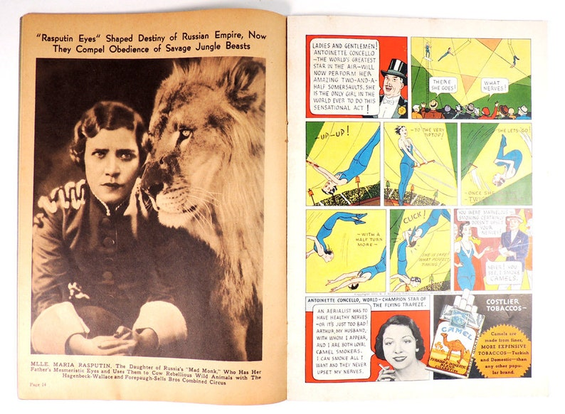 1935 Circus Program Hagenbeck-Wallace and 4 Paw-Sells Bros Circus Magazine and Daily Review