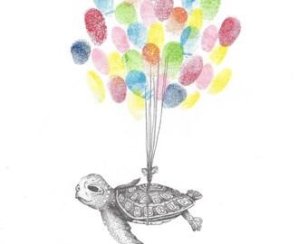 Sea Turtle Drawing Etsy