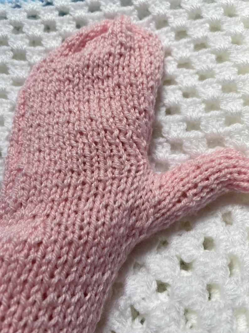 Light Pink Long Arm Warmer Mittens