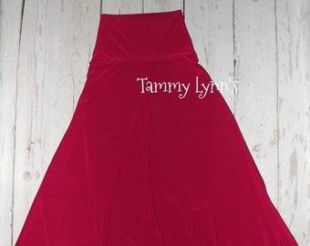 Women's Fushia Long Maxi Poly Spandex Skirt Women's Accessories