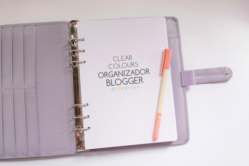 Organizador Blogger  Clear Colours image 0