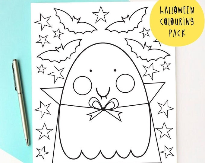 Featured listing image: Halloween Colouring pages - Ghost Colouring pack - Mindful Activity Sheets - Halloween Activity