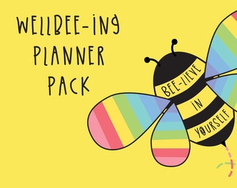 Wellbeing planner pack - set of 3 x digital downloads