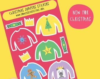 Christmas Jumper Sticker sheet - Jumper Stickers - Christmas Journaling decoration