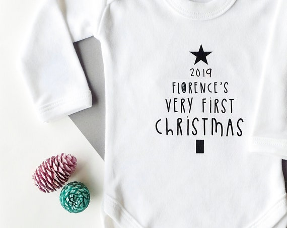 Personalised Christmas Baby Vest - add your own name!