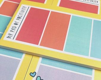 Pad of positivity- Tall rainbow notepad