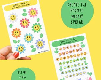 Weekly Spread Stickers - Planning Stickers - Days of the week stickers - Bujo stickers