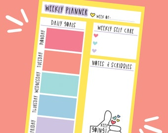 Weekly planner notepad - A4 Motivational notepad - PRE-ORDER