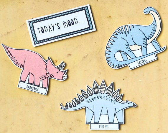 Dinosaur mood magnets - Kitchen fridge magnet - Kitchen decor