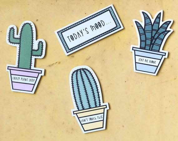 Fridge magnet - Succulent plants.