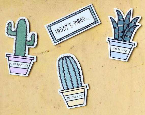 Cactus mood magnet - Kitchen fridge magnet - Kitchen decor