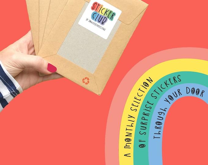Sticker Club - Surprise Vinyl Stickers - Monthly Colourful Sticker Set