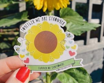 Sunflower Sticker - Transparent Decal - Community sticker - Summer sticker