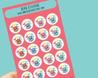 Bear Sticker sheet - Rainbow sheet - Planning Stickers - Care Bears