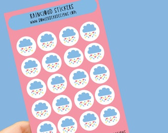 Raincloud sticker sheet - Planning Stickers - Daily stickers - Weather stickers