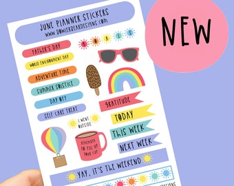 June Planner Sticker sheet - Journal Stickers