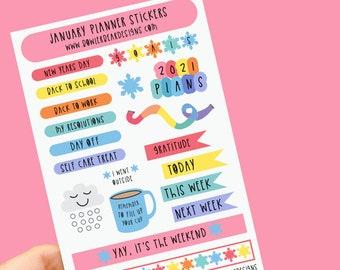 January Planner Sticker sheet