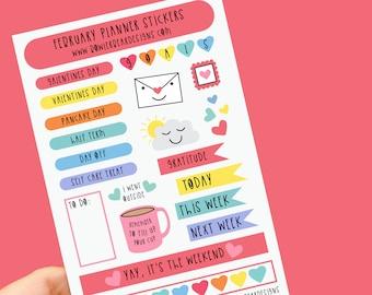 February Planner Sticker sheet