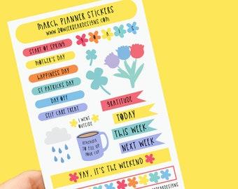 March Planner Sticker sheet