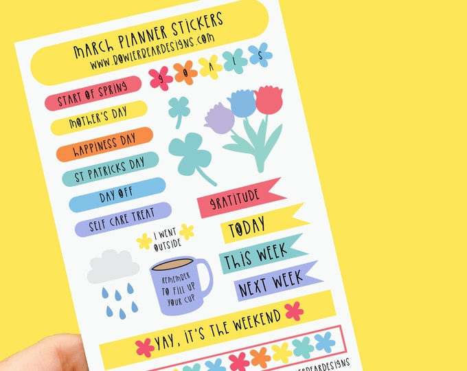 Featured listing image: March Planner Sticker sheet