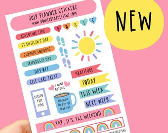 July Planner Sticker sheet - Journal Stickers