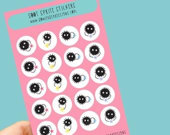 Soot sprites Sticker sheet - Spirited away sticker sheet - Planning Stickers - Studio ghibli inspired