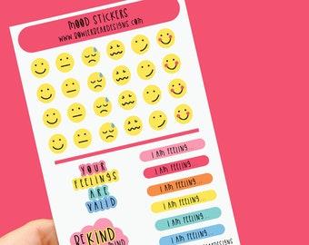 Mood Sticker sheet - Rainbow sheet - Planning Stickers