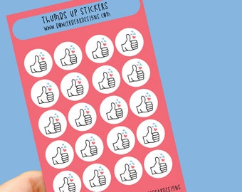 Thumbs up sticker sheet - Planning Stickers - Packaging stickers - Teacher stickers