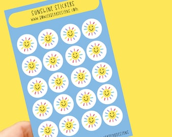 Sunshine sticker sheet - Weather stickers - Planning Stickers - daily stickers