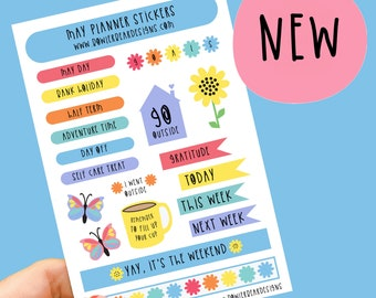 May Planner Sticker sheet - Journal Planning Stickers
