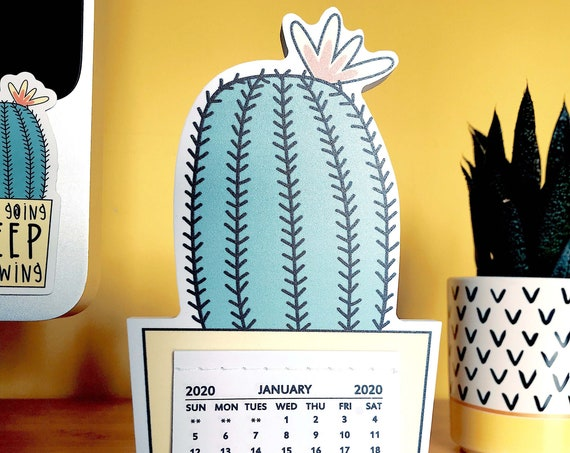 Desktop Cactus Calendar 2020 - Pre order