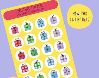 Christmas present sticker sheet - Mini present stickers - Planning Stickers - Christmas stickers