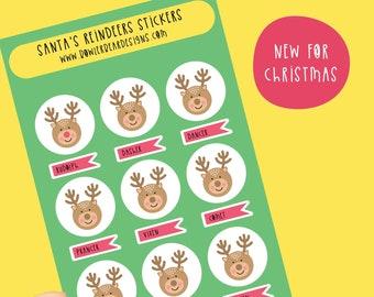 Reindeer sticker sheet - Christmas stickers - Planning Stickers - Rudolph Sticker