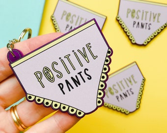Positive pants keyring