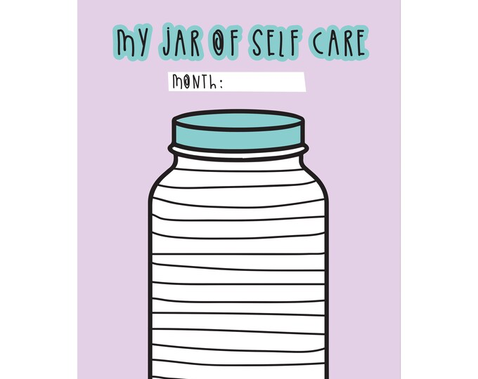 Self care chart - digital file - Colouring page