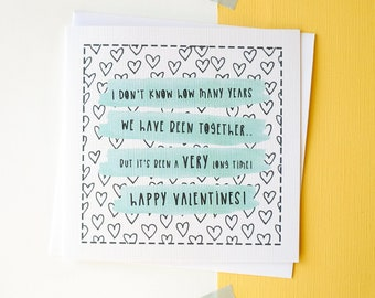 Funny Valentines day card - Couple - For him - For her