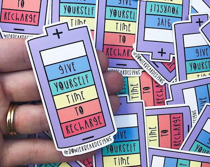 Self Care Sticker - Rainbow vinyl - Rainbow sticker - Motivational sticker - Mental health sticker