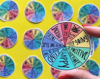 Colour wheel Sticker - Positive Sticker - Rainbow sticker