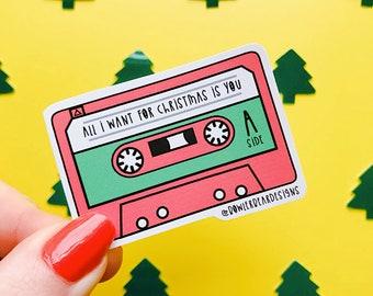 Casette Tape Sticker - Christmas Sticker - Nostalgic Christmas Sticker