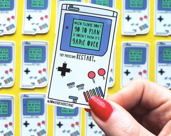 Gameboy Sticker - Nostalgic Sticker - 90's Sticker - Positive Sticker