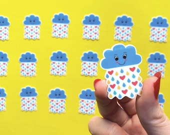 Mini Cloud Sticker - Weather Sticker - Raincloud sticker