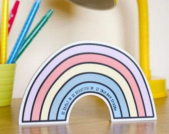 Rainbow gift for adults - positive quote - Rainbow decor